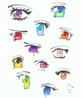Anime eyes by Leetlebug