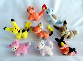 Minature Pokemon Magnet Plush by xBrittneyJane