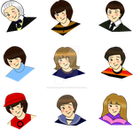 First Doctor Chibi Set by cookiepianosart