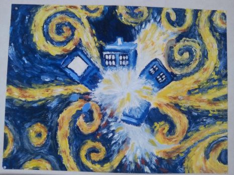 The explosion of the Tardis by timelordoftherings