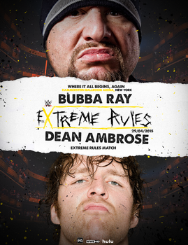 EXTREME RULES - WWE FANTASY POSTERv3 by realtita14