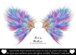 Rainbow painted fractal wings by TinaLouiseUk