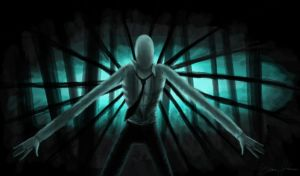 Slender Man in the Woods by ShadowandRaven