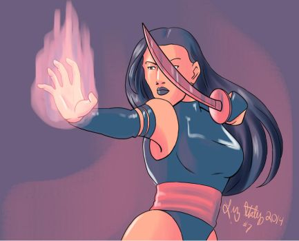 Psylocke Color Scheme by lizstaley