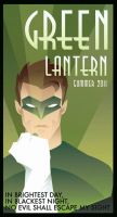 GREEN LANTERN art deco by rodolforever