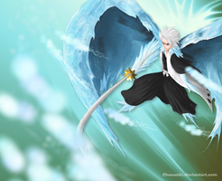 Hitsugaya Toshiro - Ice by Chanuchi