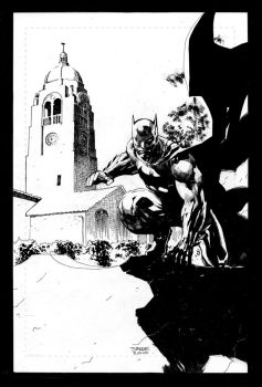 Batman and Tower by jimlee00