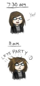 My hair is a party animal by TheGreatestFrog