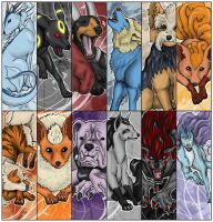 Pokemon bookmarks by The-Manticore