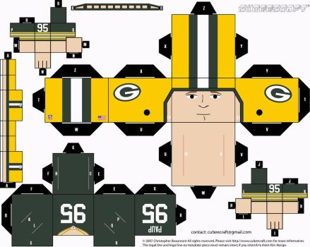 Bryce Paup Packers Cubee by etchings13