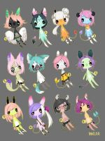 Anthro adopts 1-12 //sold by Bonelo