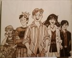 Woodburning - Archie and Friends by Stepher17