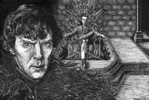 Sherlock and a Game of Thrones by saoirsesushi
