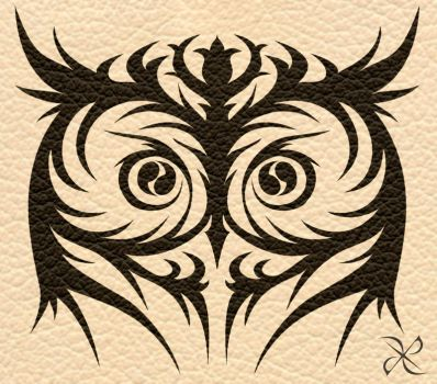 Owltattoo explore owltattoo on deviantart for Tribal owl tattoo
