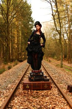 Stock - Steampunk  suitcases music box style 3 by S-T-A-R-gazer