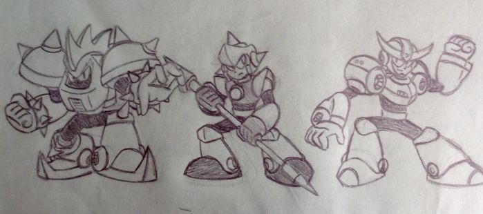 Mega Man Killers sketch irl by TacticalBacon84