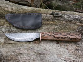 Apple Peeler(Chainsaw chain Damascus) by Sebskidoodles
