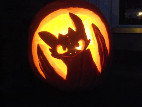 Toothless Pumpkin 2011 by ShortyLego