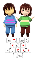 MMD Undertale - Frisk and Chara v1.2 by MagicalPouchOfMagic