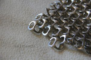 Close-up of Soda Tab Chainmail by rileysun20