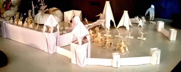 Origami castle with army 3 by WilliamClinch