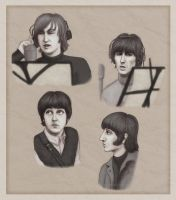 Beatles portraits - 1966 by Loony-Lucy