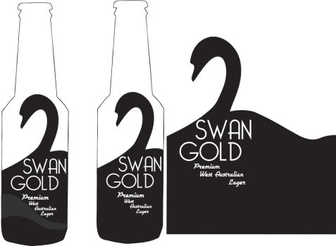 Swan Gold bottle redesign by Kaptain-Kickass