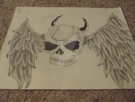 Skull With Wings by JinxSixx
