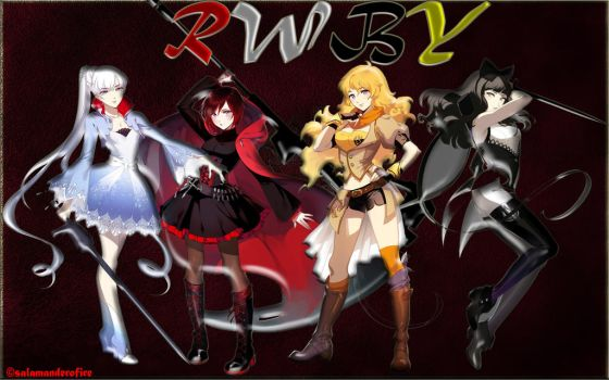 Groupe Rwby by salamanderofire