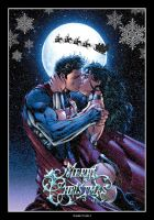Superman and Wonder Woman - Merry Christmas by GabeCurly