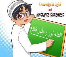 Knowledge is light and ignorance is darkness by Nayzak