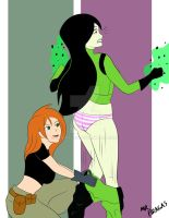 Commission - Shego Pantsed by MrBragas