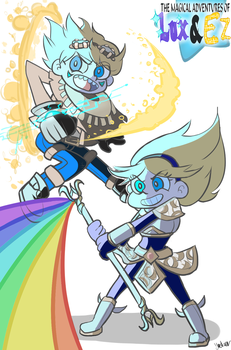 Magical Adventures Of Lux and Ezreal! by Jaskierka