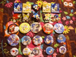 Sonic Pins and Buttons by 7marichan7