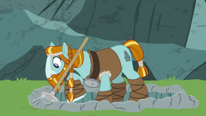 Rockhoof becomes a muscly stallion
