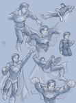 Superman, Earth One sketches by ErinPtah