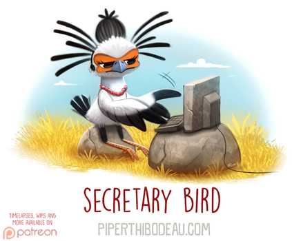 Daily Paint 1618. Secretary Bird by Cryptid-Creations