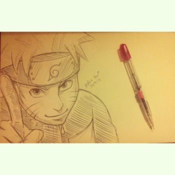 naruto sketch~ by mollie111
