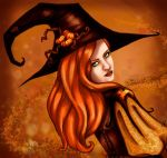 Orange Halloween Witch by Chihyro
