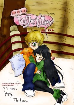 3+4 together comic cover by kuki0419