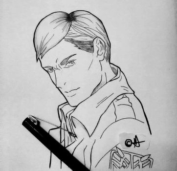 Erwin Smith, attack on titan/shingeki no kyojin by fretikku