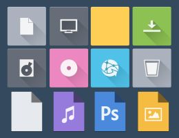 Flat for IconPackager by Black-A