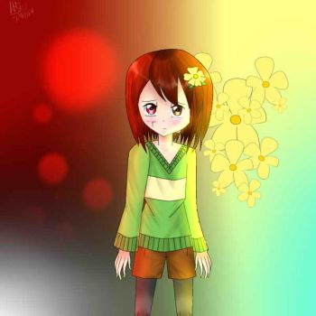 Chara Good or Evil by RoselliaPetal