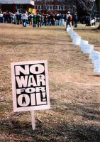 No War for Oil by MyLaundryStinks