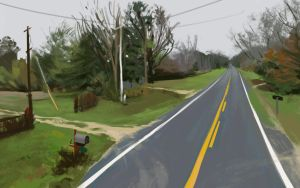 Landscape sketch by Chewfie