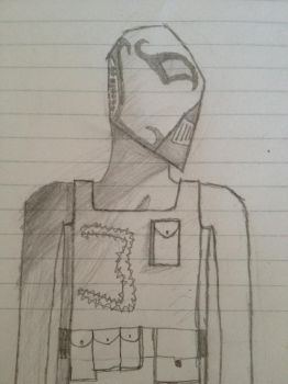 Free Sketch #3 Metal Mask Full by JarexTheBrony