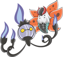 Chandelure and Volcarona
