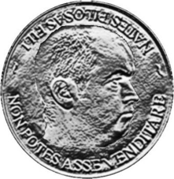 Pete on a coin by graemekerbypho