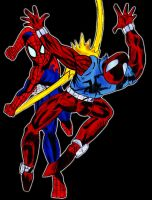 Spider-Man vs Scarlet Spider by pascal-verhoef