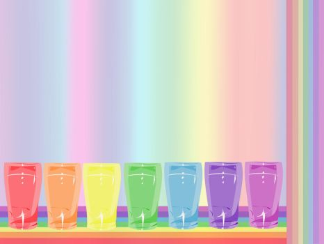 Seven pints of rainbow. by bipride